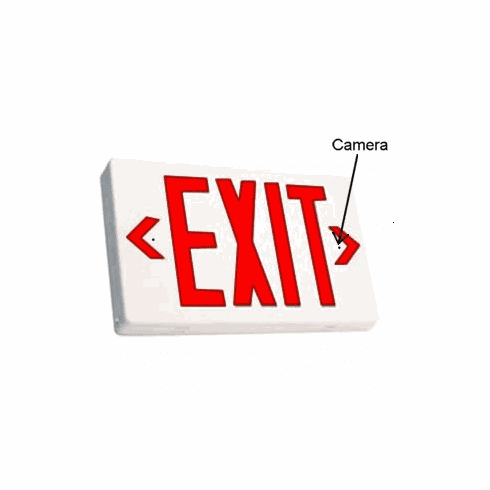 SecureGuard HD Wireless 4G Exit Sign Spy Camera