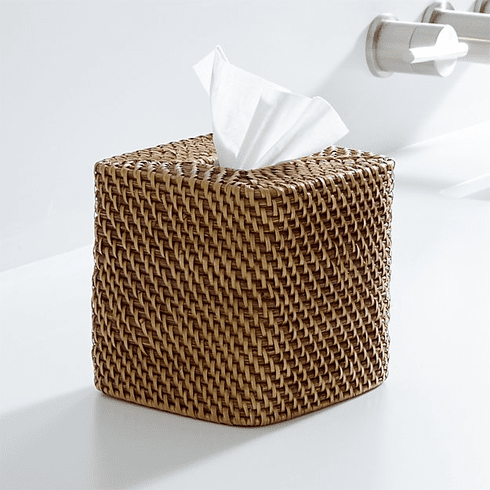 SecureGuard HD Wireless 4G Wicker Tissue Box Spy Camera