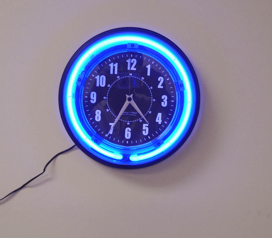 SecureGuard Neon Wall Clock Spy Camera