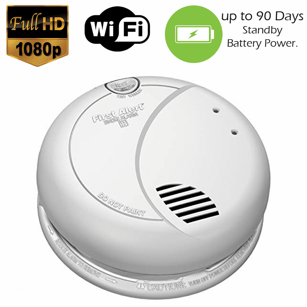 XSMOKE 1080P Long Battery Life WiFi Smoke Detector Fire Alarm Spy Camera