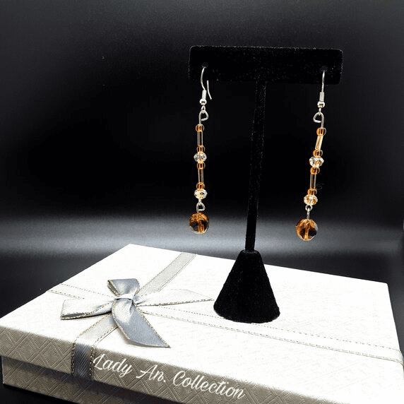 Champagne and Rum Earrings