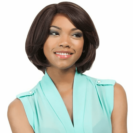 "Hannah- 10"" Synthetic Swiss Lace Front Wig"