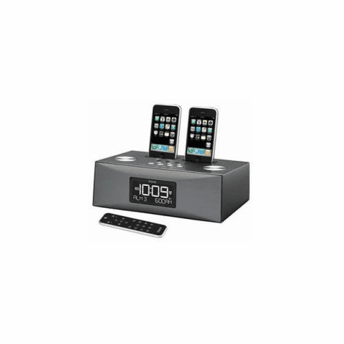 iHome Dual Dock Triple Alarm Clock Radio