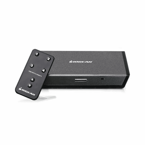 IOGEAR 4 Port HDMI Switcher with Remote