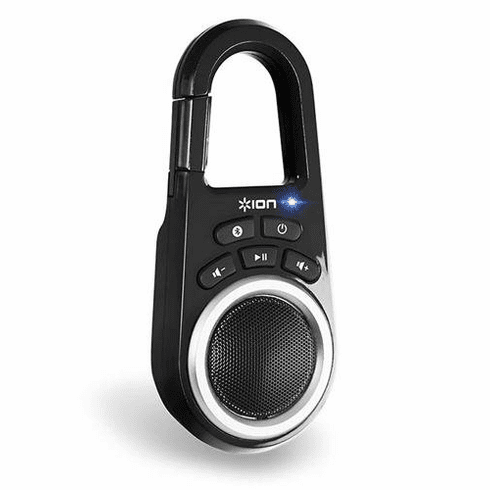 ION Ultra-Portable Bluetooth Speaker with Built-In Clip