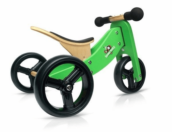 Kinderfeets 2-in-1 Balance Bike/Trike in Green