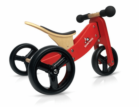 Kinderfeets 2-in-1 Balance Bike/Trike in Red