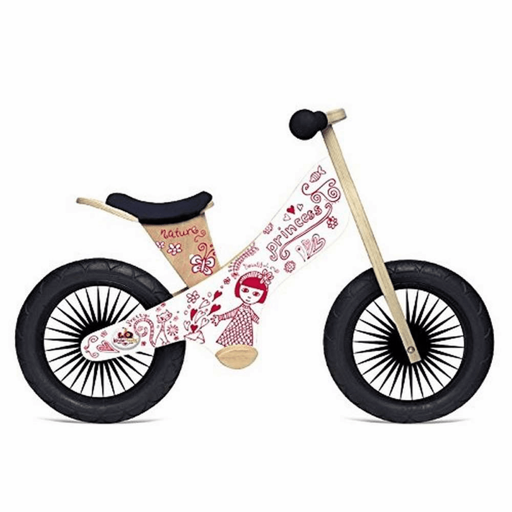 Kinderfeets Princess Wooden Balance Bike