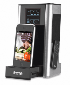 Kitchen Timer and FM Clock Radio Speaker System for iPhone/iPod