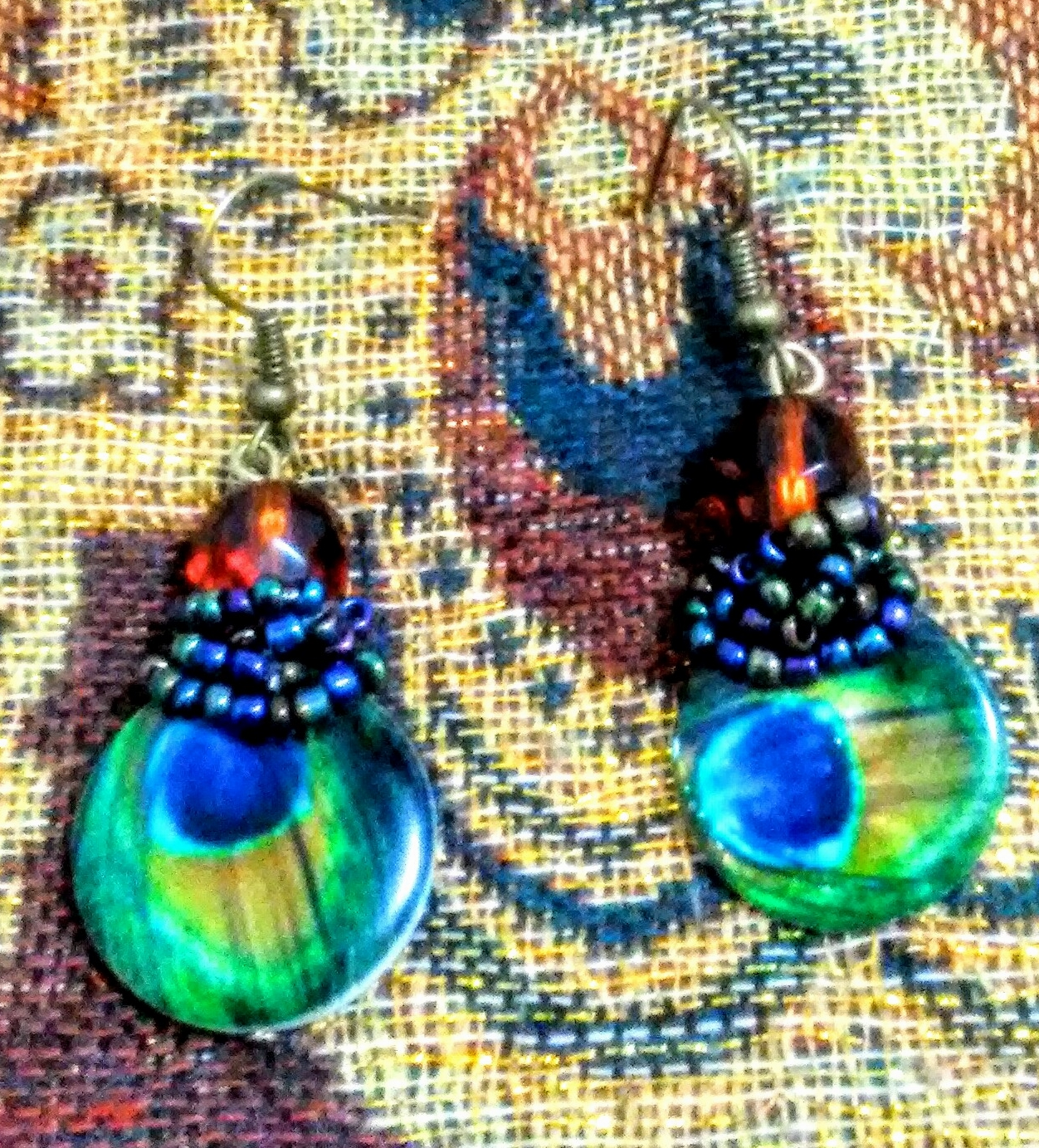Lady Peacock Earrings