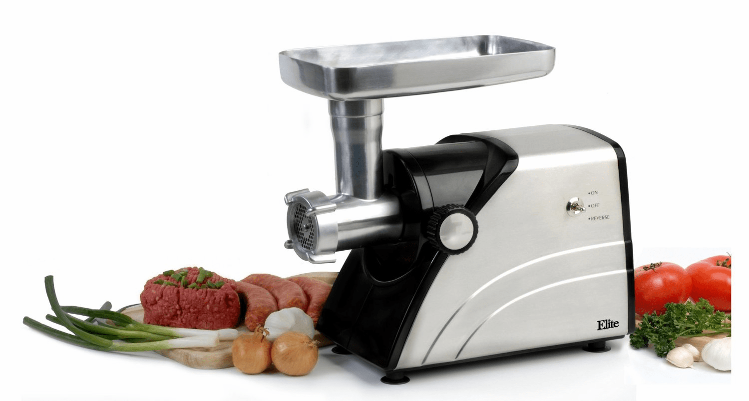 Maxi-Matic Elite Platinum 550-Watt Stainless Steel Meat Grinder