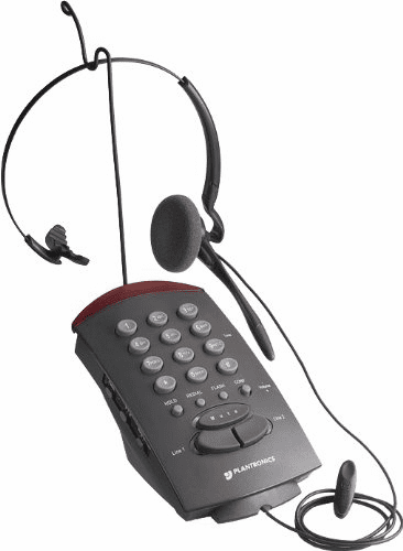 Plantronics T20 Corded 2-Line Convertible Headset Telephone