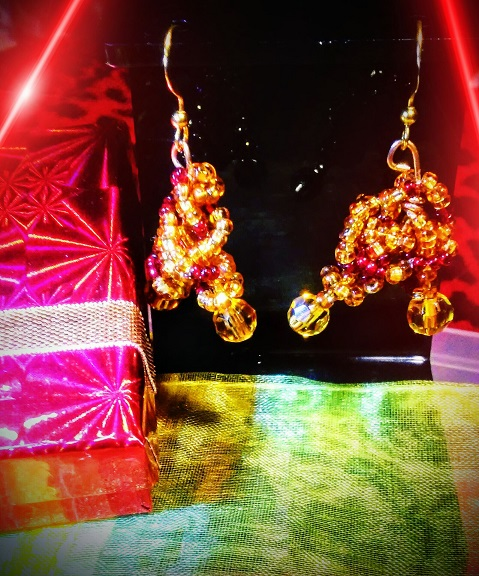 Scarlet Gold Earrings
