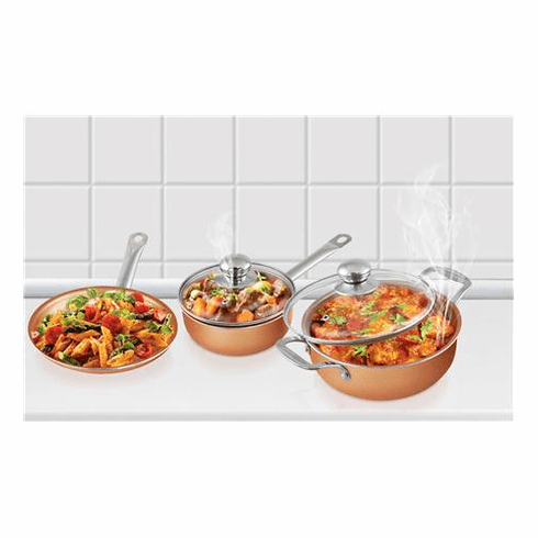 Volar Fashion LLC 5 pc Copper Cookware Set