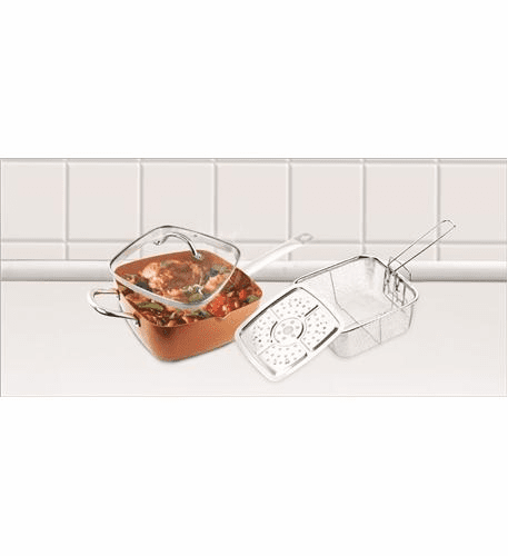 Volar Fashion LLC 8 pc Copper Cookware Set
