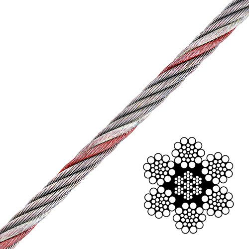 """1/2"""" 6x19 Class Wire Rope - 26600 lbs Breaking Strength"""