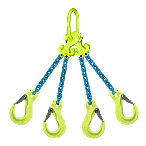 "1/2"" x 15 ft TG4-EGKN GrabiQ Adjustable 4-Leg Grade 100 Chain Sling - 39000 lbs WLL"