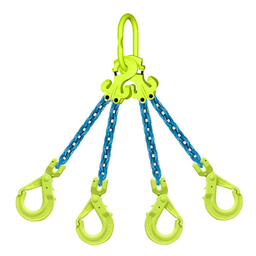 Lifting//Rigging//Utility | Quad Grade 100 with Sling Hooks and Adjusters 9//32 x 20 Four Leg Chain Sling