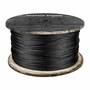 """1/4"""" 7x19 Black Anodized Galvanized Aircraft Cable - 7000 lbs Breaking Strength"""