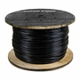 """3/16"""" - 1/4"""" Black Nylon Coated Galvanized Aircraft Cable - 4200 lbs Breaking Strength"""