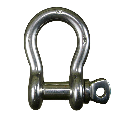 """3/4"""" Stainless Steel Screw Pin Anchor Shackle - 4-3/4 Ton WLL"""