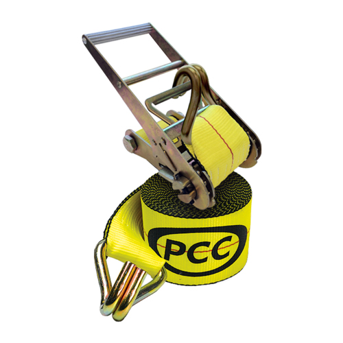 "PCC 4"" x 30 ft Ratchet Strap - Wire Hooks - 6600 lbs WLL"
