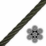 6x36 Class Bright Wire Rope
