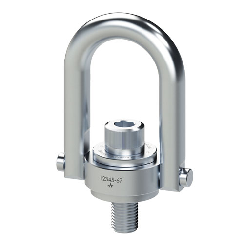 "ADB 1""-8 x 2.29"" Stainless Steel Safety Engineered Swivel Hoist Ring - 5000 lbs WLL - #29333"