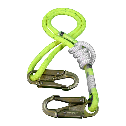"All Gear 3 - 6 ft Adjustable Lanyard - 1/2"" Rope"