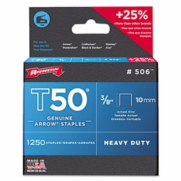 "Arrow T50 #506 Staples - 3/8""L"