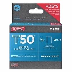 "Arrow T50 #508 Staples - 1/2""L"