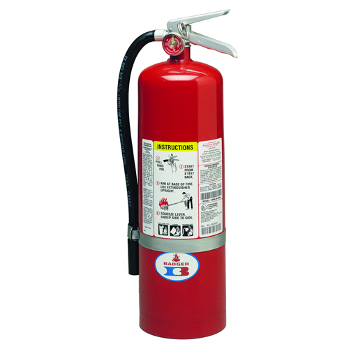 Badger Standard ABC Fire Extinguisher - 10 lbs w/ Wall Hook