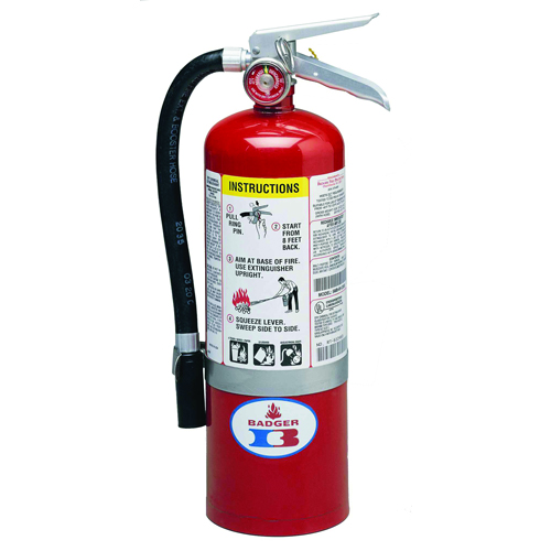 Badger Standard ABC Fire Extinguisher - 5 lbs w/ Wall Hook