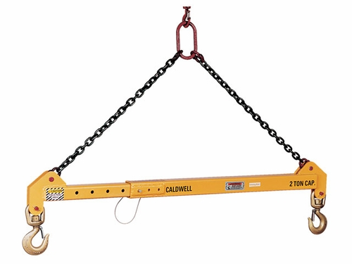 Caldwell 10 Ton x 8 - 14 ft Adjustable Spreader Beam