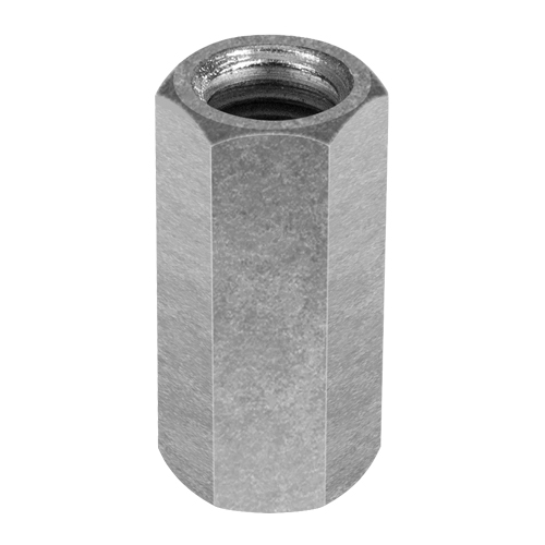 "Chicago 3/4""-10 Zinc-Plated Steel Coupling Nut - #25540 0"