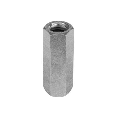 "Chicago 3/8""-16 Zinc-Plated Steel Coupling Nut - #25520 2"