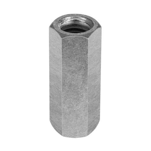 "Chicago 5/8""-11 Zinc-Plated Steel Coupling Nut - #25535 6"