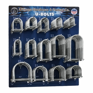 Chicago Zinc-Plated U-Bolt Assemblies