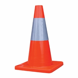 "18"" Economy Traffic Cone - 6"" Reflective Collar"