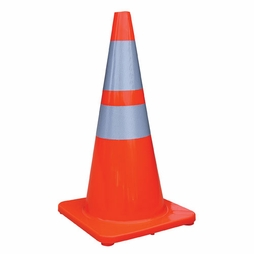 "28"" Economy Traffic Cone - 4"" & 6"" Reflective Collar"