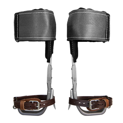 Climb Right CTB Aluminum Pole Climbing Spurs & Velcro Pads