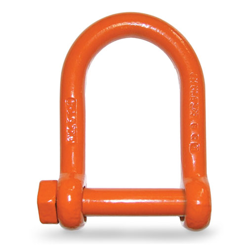 1-1//2 Ton Work Load Limit 3//8 Size CM M648P Super Strong Anchor Shackle with Orange Powder Coated Screw Pin