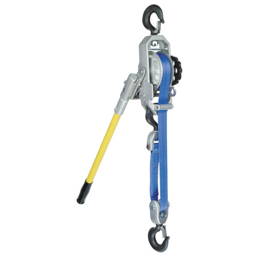 Little Mule 344B 1 Ton x 11 ft Lineman's Strap Hoist - #04490W
