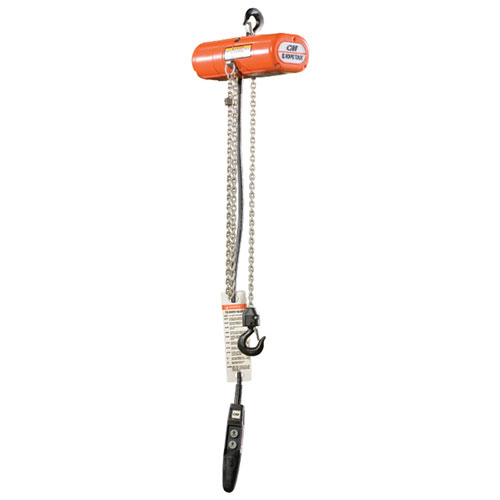 CM 500 lbs x 10 ft ShopStar Electric Chain Hoist - 115-1-60V - #2090