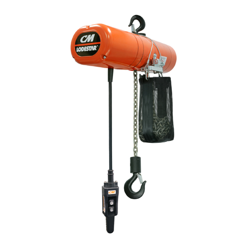 CM 1 Ton x 10 ft Lodestar Electric Chain Hoist - #3555NH