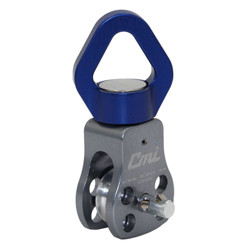 "CMI 1-1/4"" Swivel Pulley w/ Removable Sheave - 1/2"" Rope - #RP161RS"