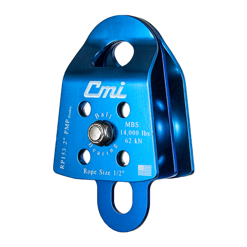 """CMI 2"""" Double Sheave Prusik Minding Pulley - 1/2"""" Rope - #RP153"""