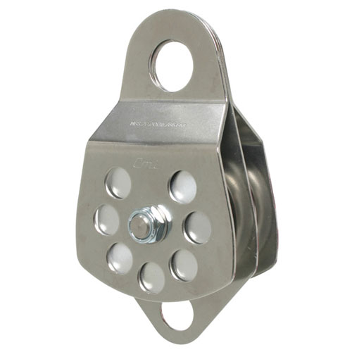 """CMI 3"""" Double Sheave Rope Pulley - 5/8"""" Rope - #RP106D"""