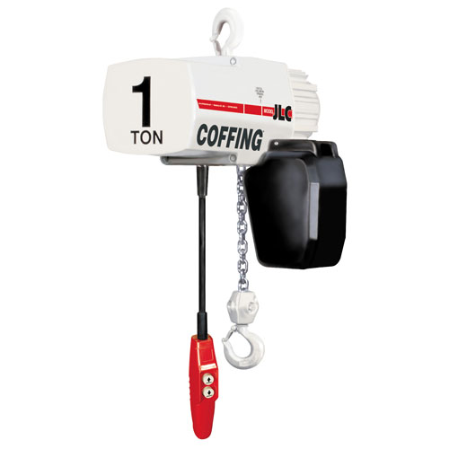 Coffing JLC1016-15 1/2 Ton x 15 ft Electric Chain Hoist - 115/230V-1PH - #08222W