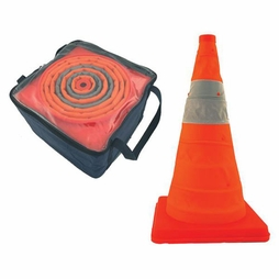 "Cortina 28"" Collapsible Traffic Cones w/ LED Lights 5-Pack"